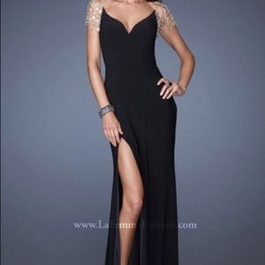 La Femme NWT Open Back Evening Gown